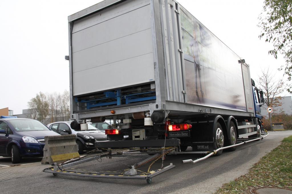 """Auf die Straße dürfen die Trucks nicht, obwohl sie beim Thema """"Autonomes Fahren"""" einige Erfahrungen beitragen."""