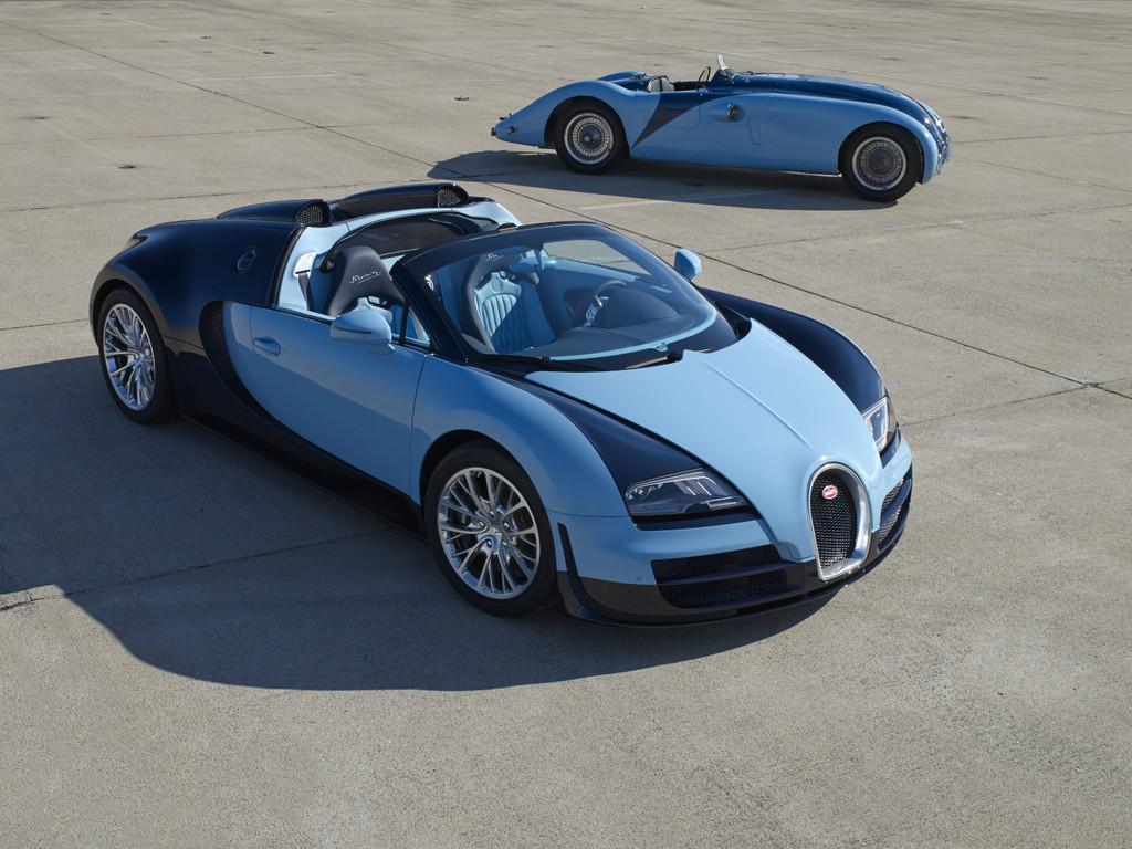 Bugatti legt sechs Mal drei Legenden-Fahrzeuge auf
