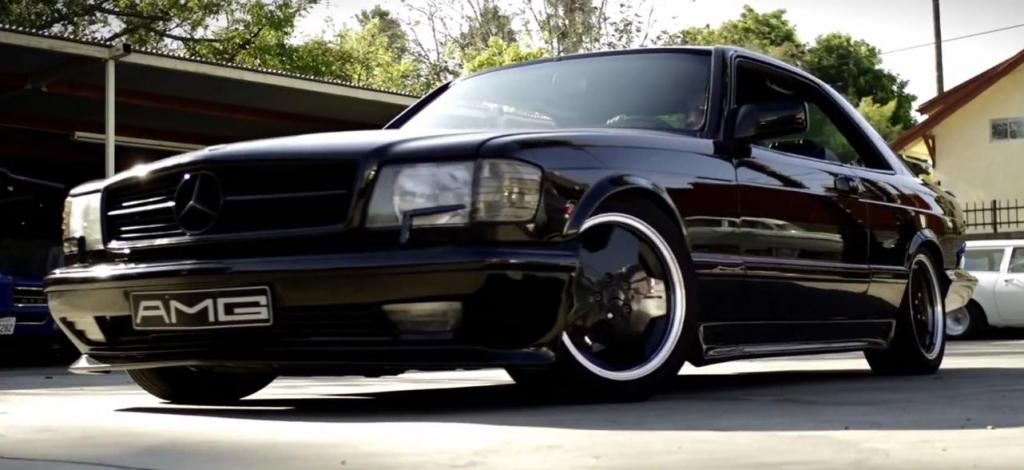 Düster und elegant: 1988er Mercedes-Benz SEC AMG