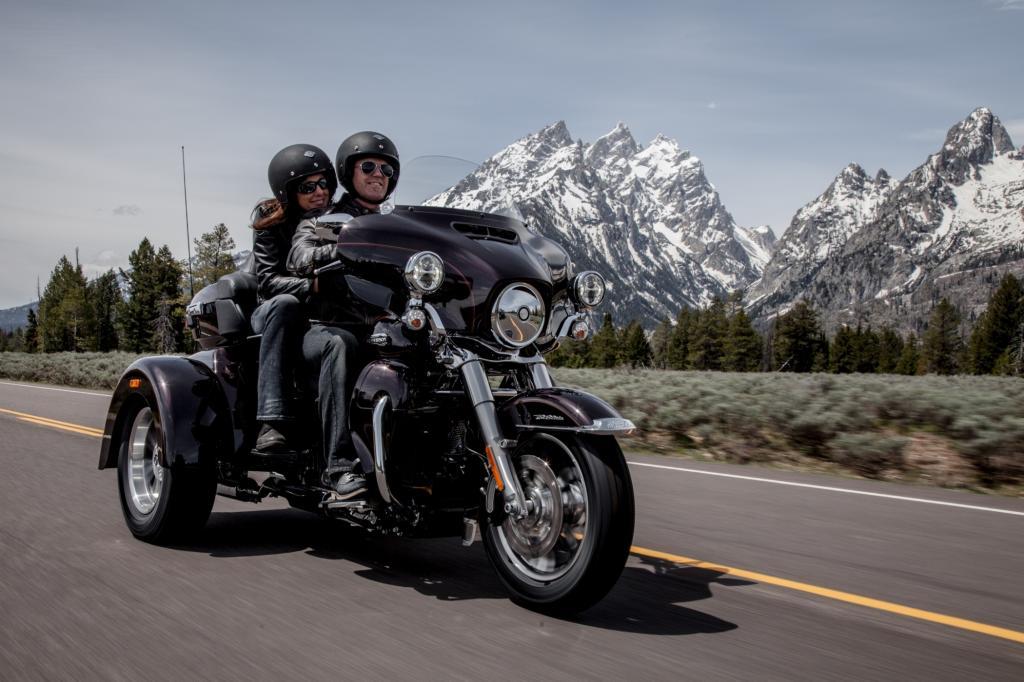 Das Trike Tri Glide Ultra Classic gehrört erstmals zum Harley-Programm in Duetschland
