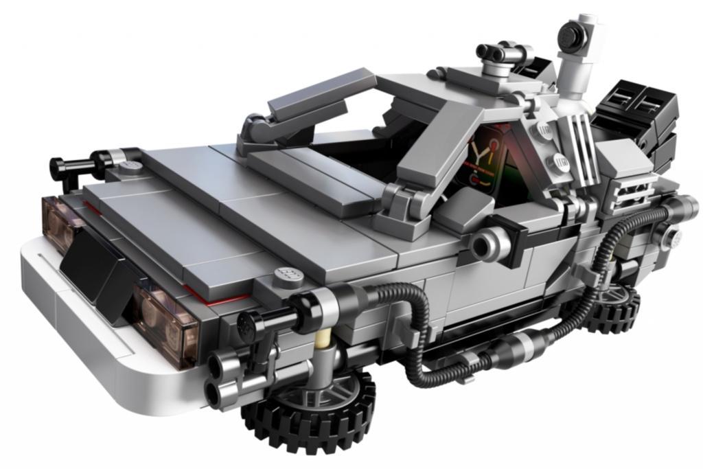 Der detailgetreue Bausatz des DeLorean in Miniatur-Version macht möglicherweise den Vätern noch mehr Freude als ihren Kindern