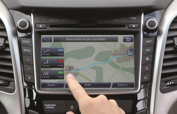 Hyundai liefert fünf Kartenupdates beim Navi mit