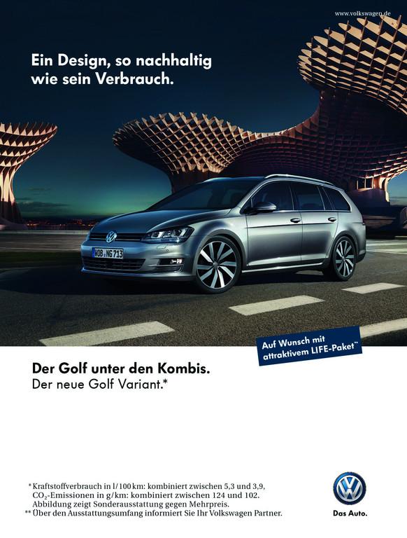 Kampagne: Der Golf unter den Kombis