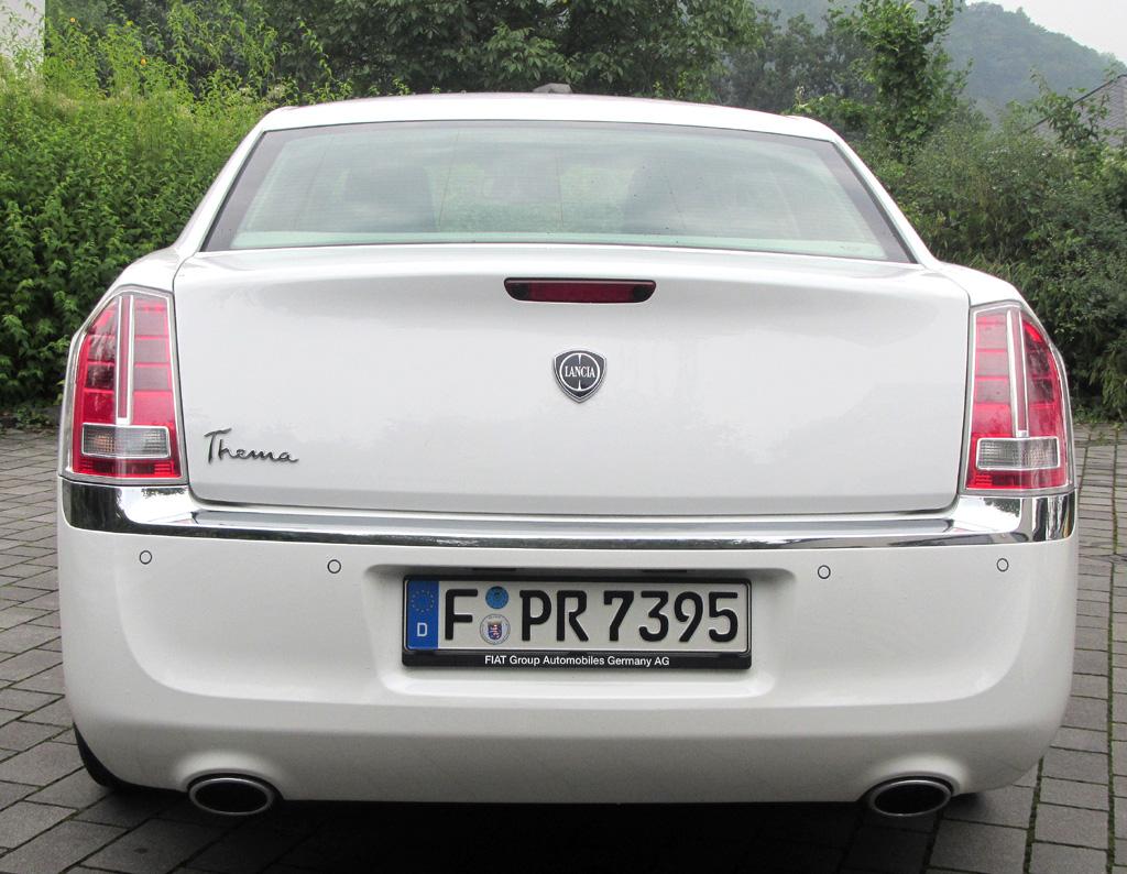 Lancia Thema: Blick auf die Heckpartie.