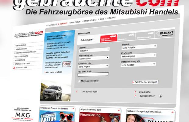 Mitsubishi verbessert Fahrzeugbörse im Internet