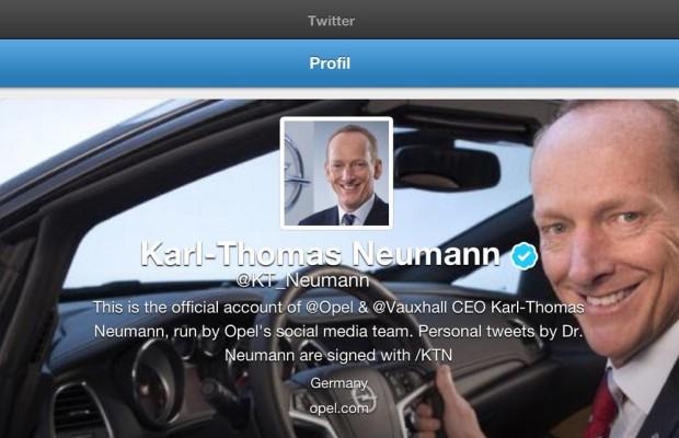 Opel-Chef Neumann twittert jetzt