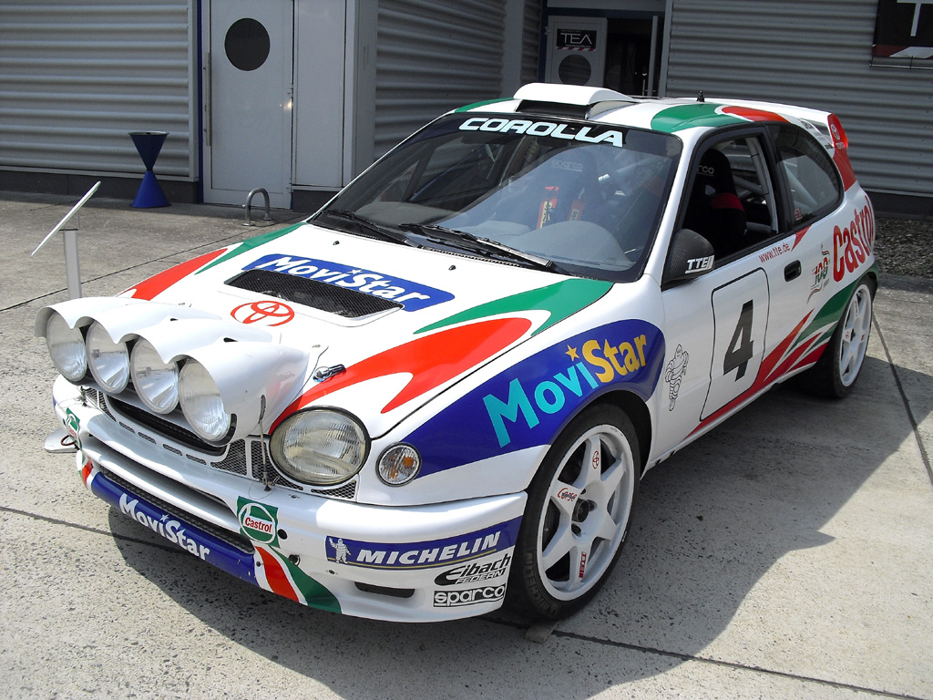 Toyota-Fahrspaß: Rallye-Corolla aus der Zeit Ende der 1990er-Jahre