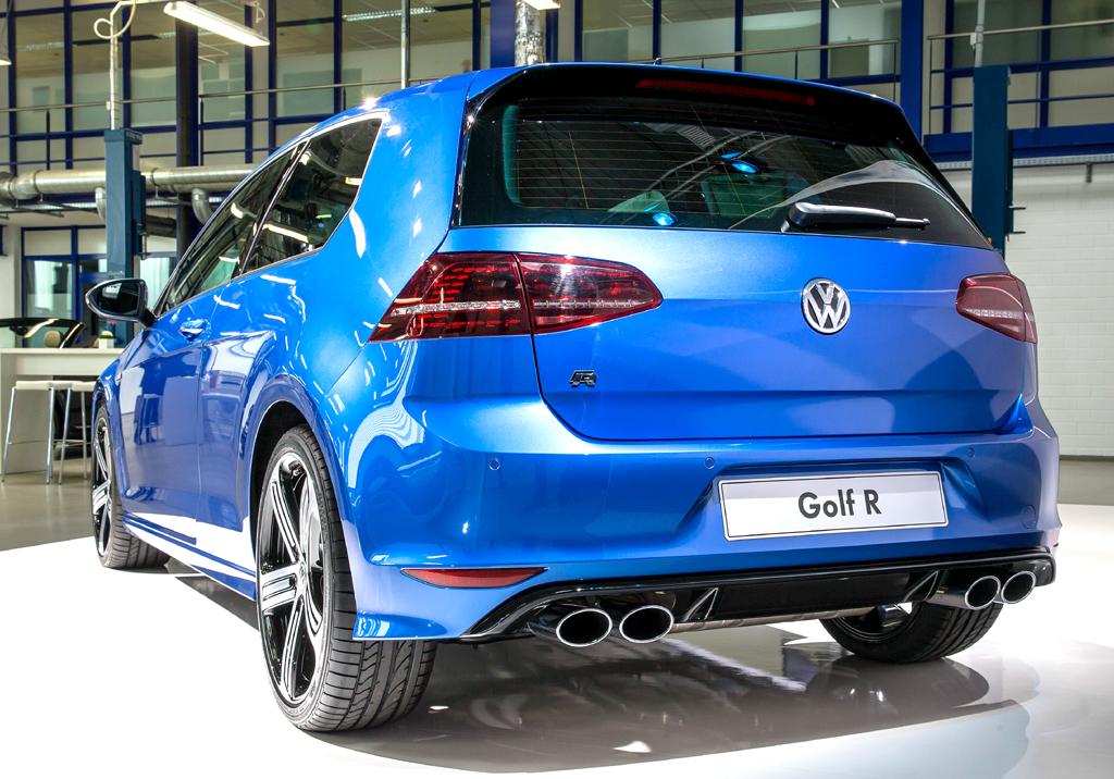 VW Golf R: Blick auf die Heckpartie.