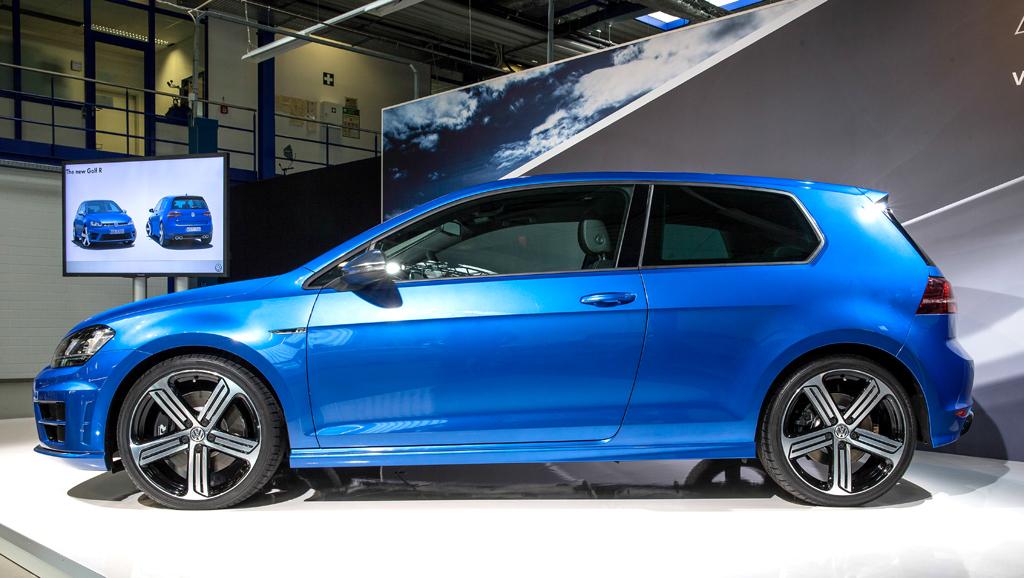 VW Golf R: Und so sieht das kompakte Kraftpaket von der Seite aus.