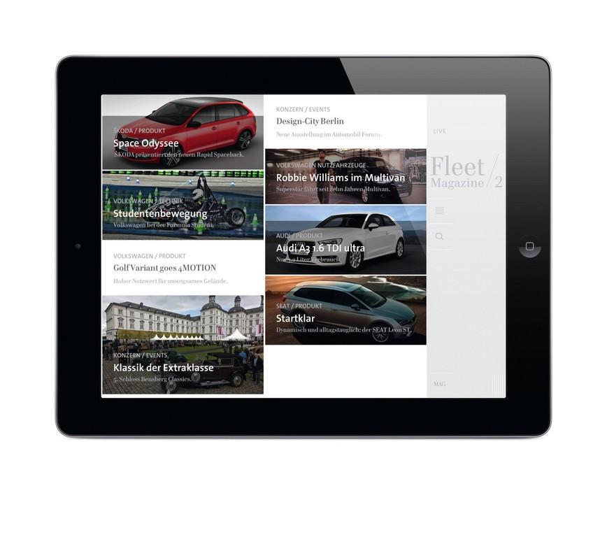 Volkswagen-Fleet-Magazine-App mit neuem Live-Bereich