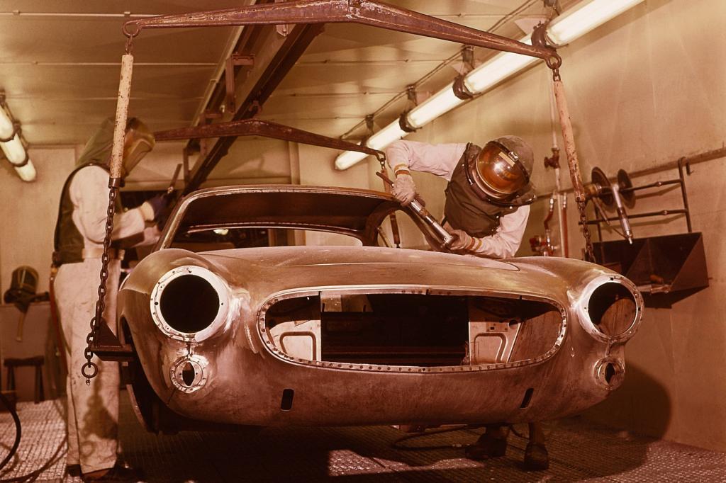 Volvo 1800S Produktion in Schwedischen Werk Lundby 1963
