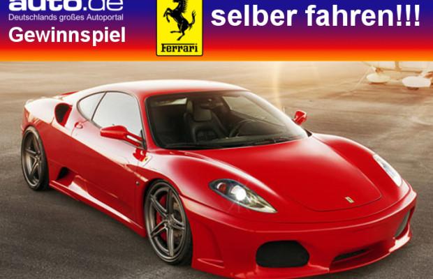 auto.de-Gewinnspiel: Ferrari fahren inklusive 50 Euro Tankgeld von Shopping.de