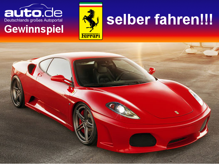 auto.de-Gewinnspiel: Ferrari fahren plus 50 Euro Tankgeld von Shopping.de