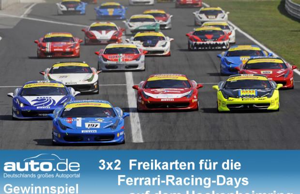 auto.de-Gewinnspiel: Mit BERG Toys und auto.de 3x2 Karten für die Ferrari Racing Days gewinnen!