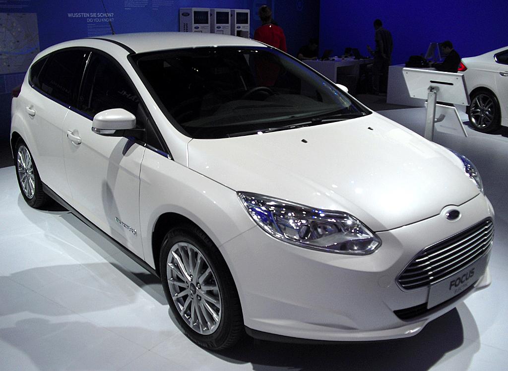 Am Ford-Stand: Der Focus Electric kann bereits bestellt werden.