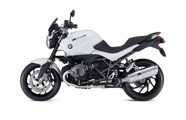 BMW R 1200 R in Schwarz-Weiß