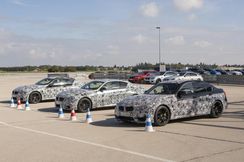 Bei der fünften Generation des BMW M3 und der nunmehr auf M4 getauften Coupé-Version (hier noch getarnt) bringt es die völlig neu entwickelte Maschine auf 316 kW/430 PS