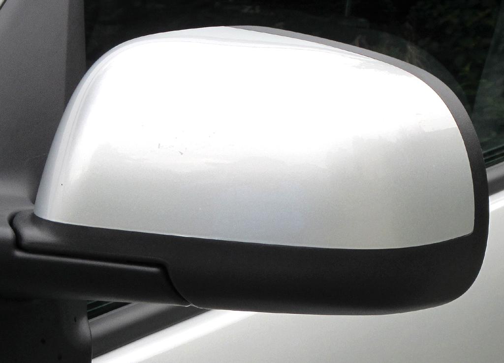 Dacia Lodgy: Blick auf den Außenspiegel auf der Fahrerseite.
