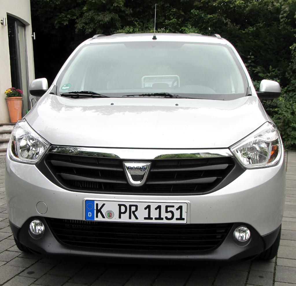 Dacia Lodgy: Blick auf die Frontpartie.