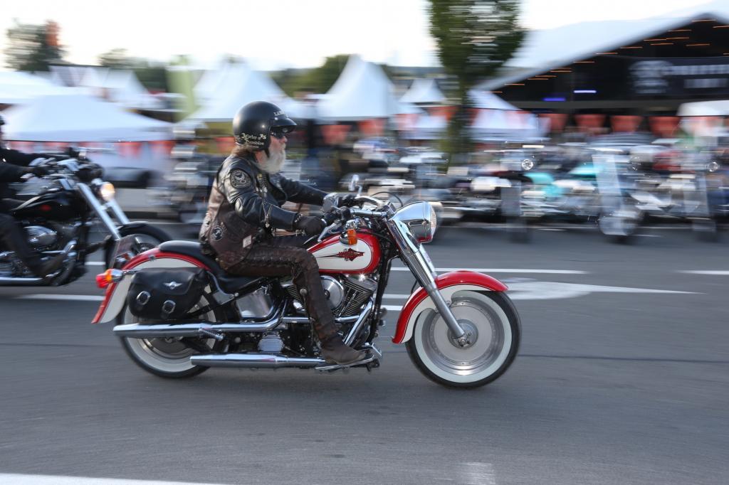 Die Harley-Modelle, die sich in Faak am See eingefunden haben, sind so vielfältig wie Herkunft, Bildungsstand oder Profession ihrer Fahrer