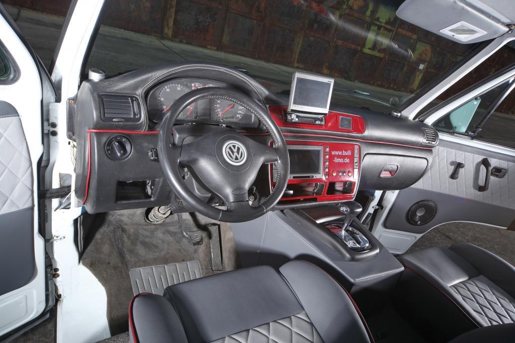 Die Mittelkonsole hat mit dem VW-Original nicht mehr viel zu tun