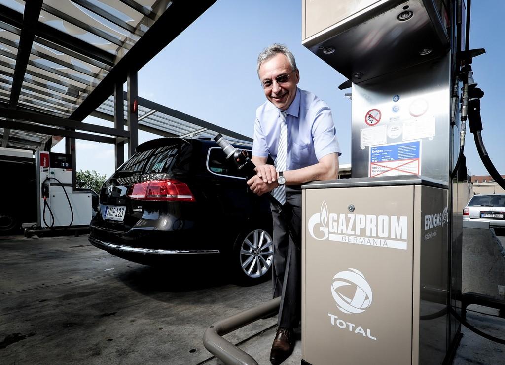Gazprom baut sein Tankstellennetz für Erdgas aus