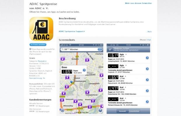 Geld sparen mit Tankstellen-App vom ADAC