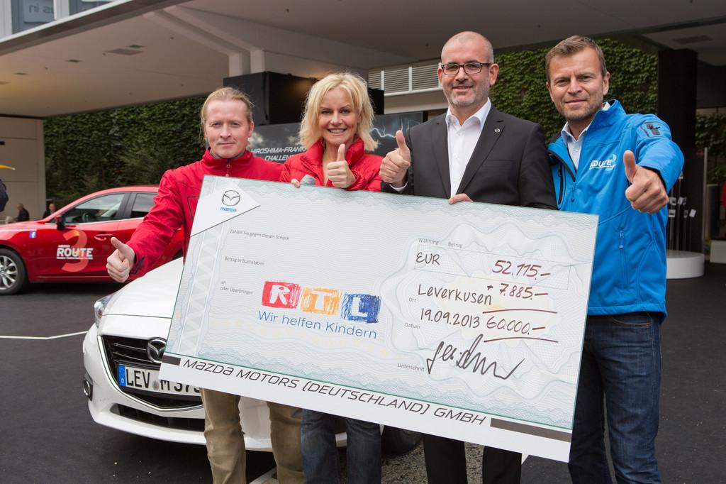 Mazda spendet 60 000 Euro an