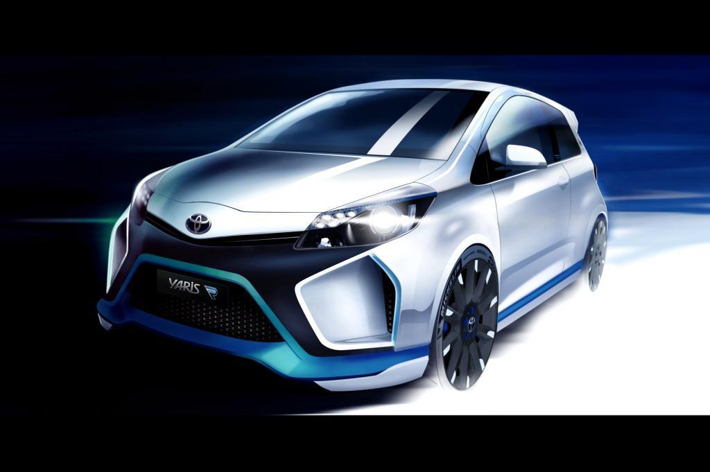 Mit der Studie Yaris Hybrid-R, einem Kleinwagen mit Rennwagentechnik, zeigt die Marke, wie weit man das Thema Hybrid spreizen kann