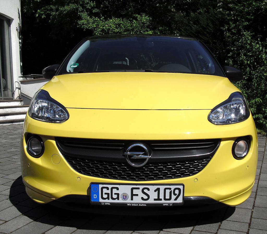 Opel Adam: Blick auf die Frontpartie.