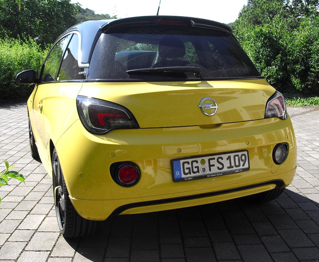 Opel Adam: Blick auf die Heckpartie.