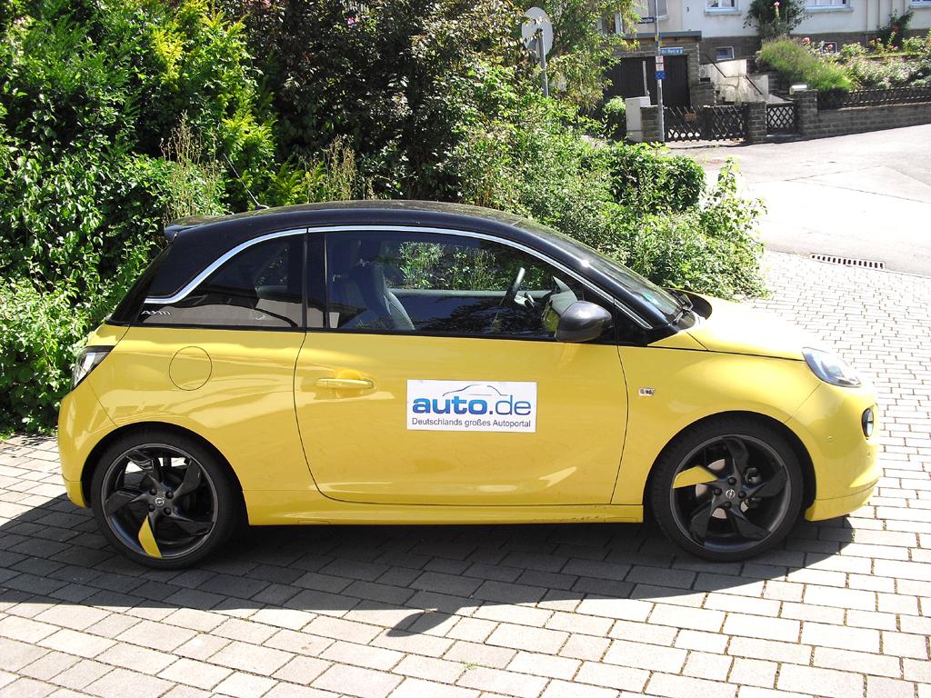 Opel Adam: Und so sieht der modische Lifestyle-Flitzer von der Seite aus.