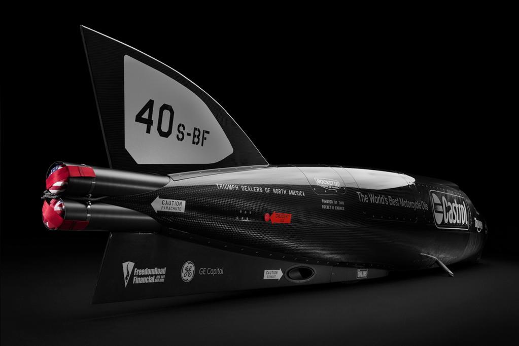 Rekord-Fahrt mit 1000-PS-Raketenmotorrad