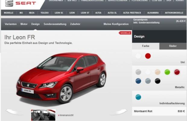 Studie zu Online-Konfiguratoren  - Seat-Kunden klicken sich durch