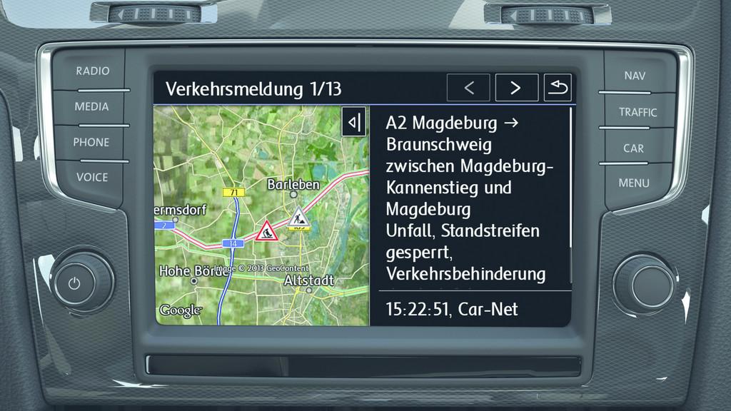 Volkswagen navigiert mit Car-Net
