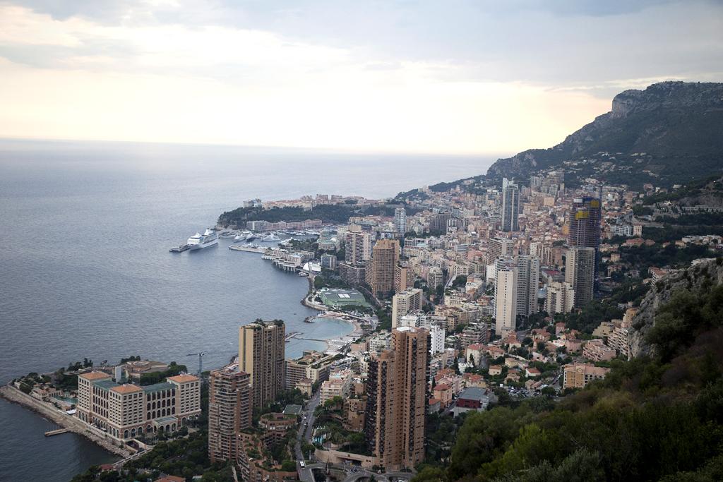 Am Meer angekommen: Blick auf Monte Carlo.