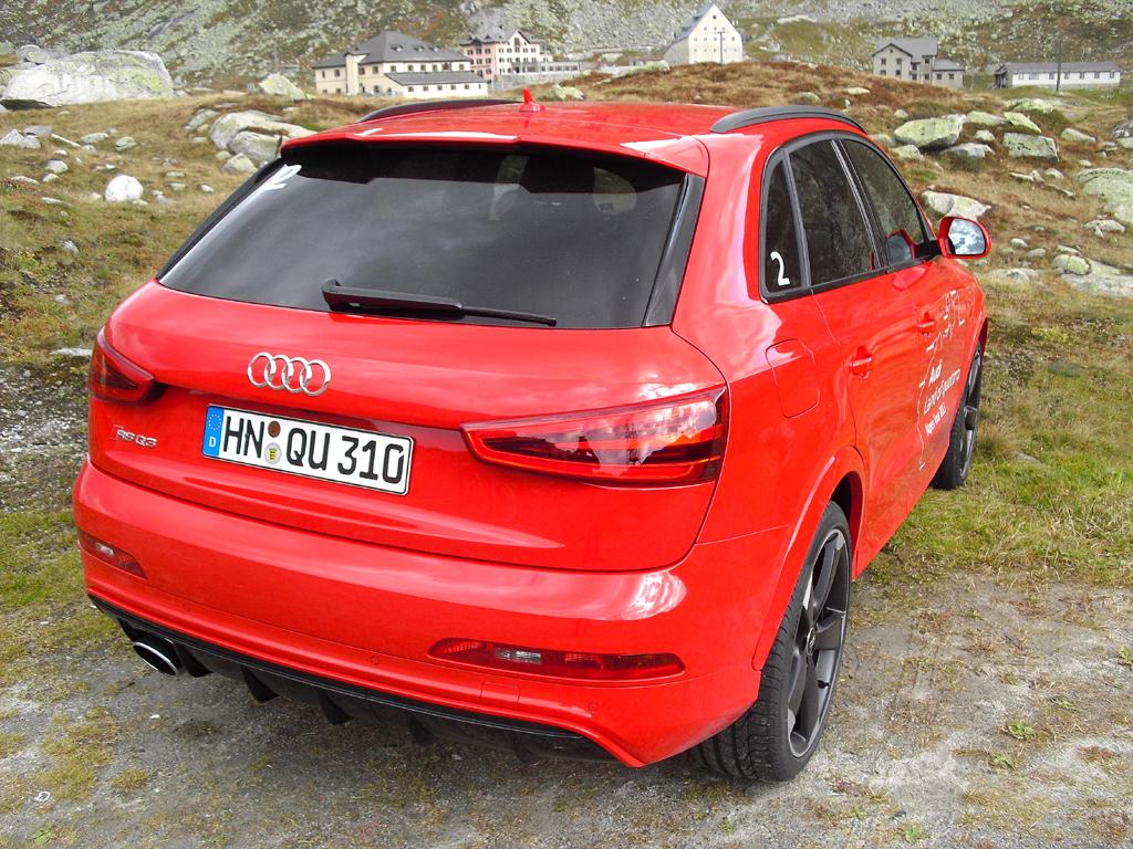 Audi RS Q3: Blick auf die Heckpartie.