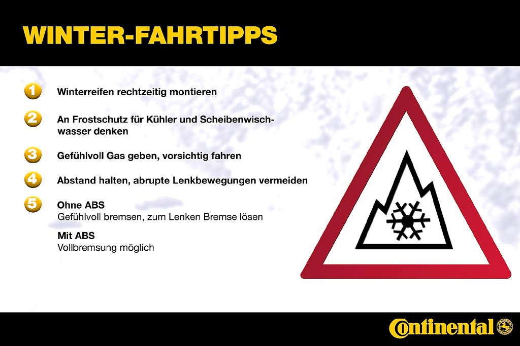 Beim Fahren im Winter sollten diese Tipps nicht unbeachtet bleiben.