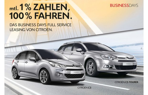 Business Days: Leasingsonderkonditionen bei Citroen