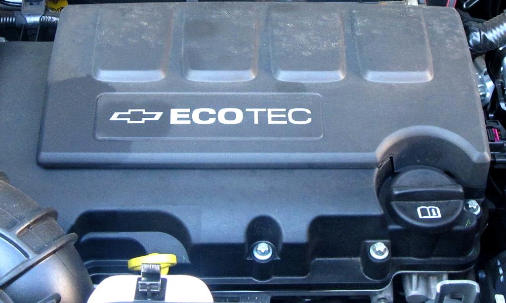Chevrolet Trax: Blick unter die Haube auf den 1,4-Liter-Turbo.