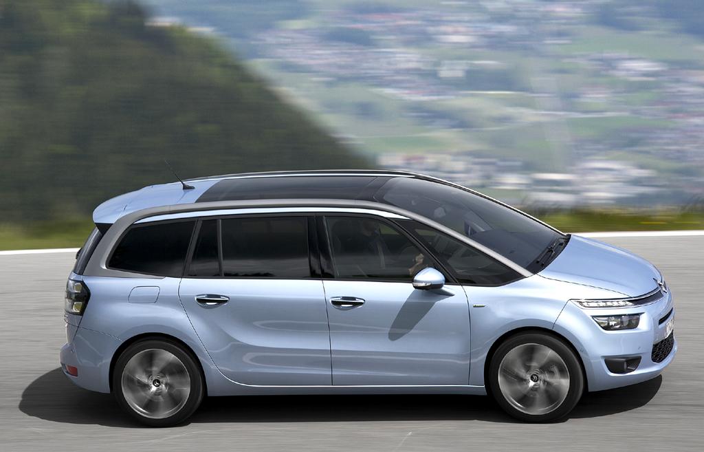 Citroën Grand C4 Picasso: Und so sieht der größere C4-Picasso-Bruder von der Seite aus.