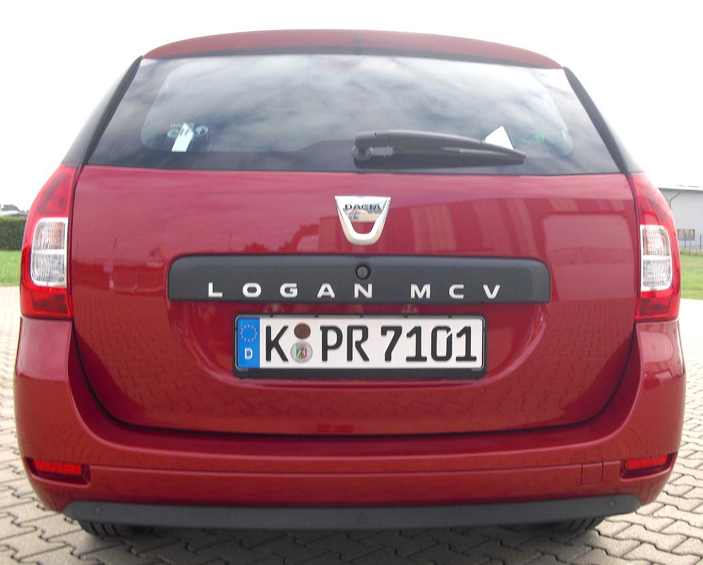 Dacia Logan MCV: Blick auf die Heckpartie.