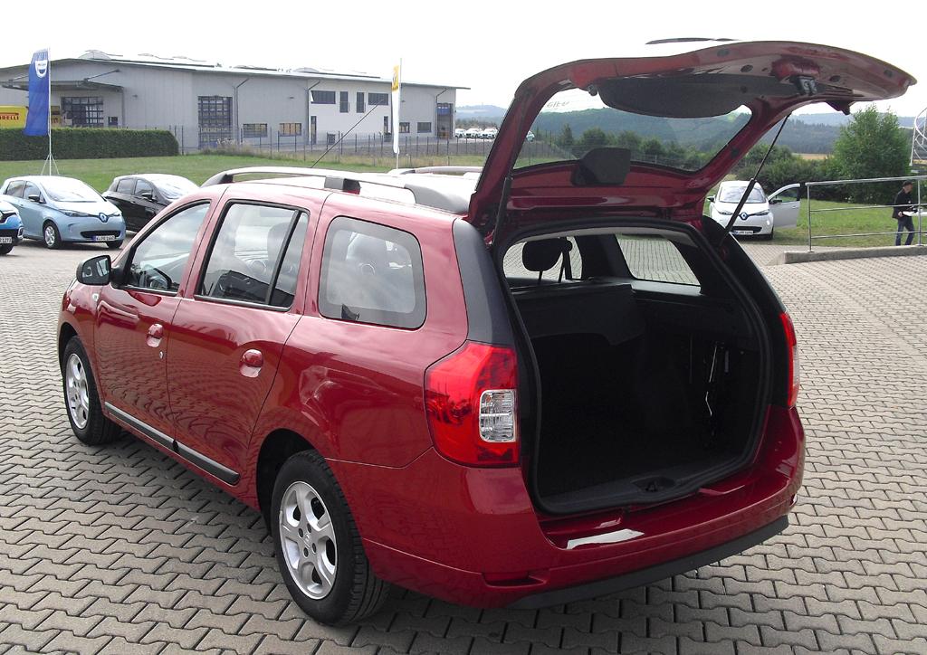 Dacia Logan MCV: Ins Gepäckabteil passen jetzt noch 573 bis 1518 Liter hinein.