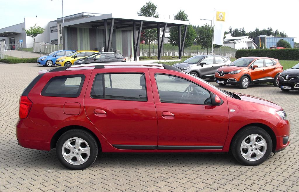 Dacia Logan MCV: Und so sieht gefällige Kombi von der Seite aus.