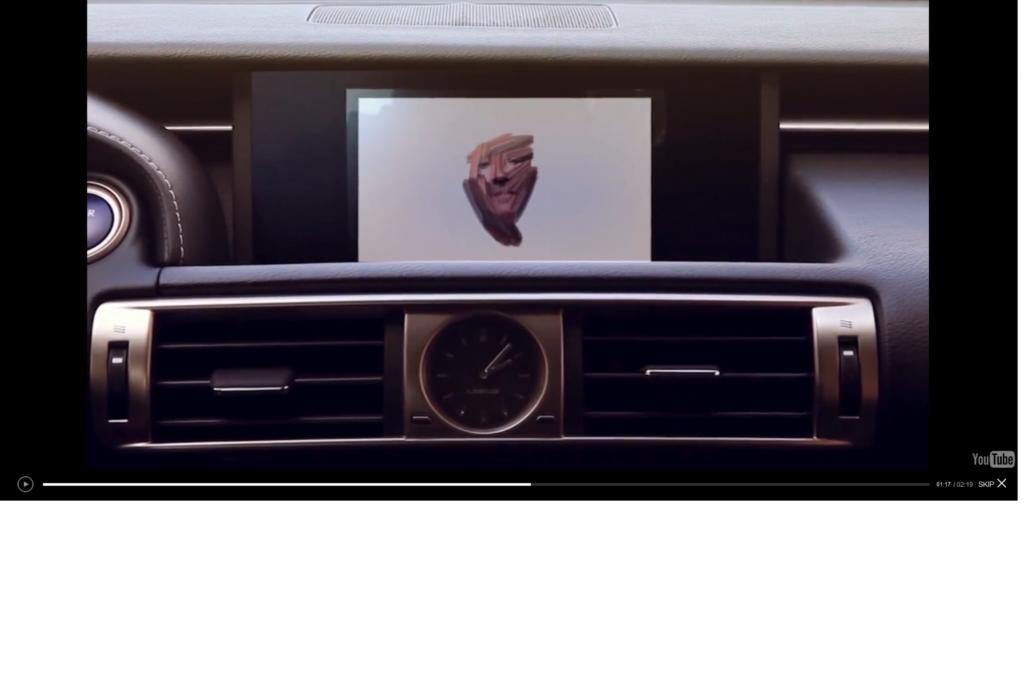 """Für seine Kampagne """"Art in Motion"""" hat Toyotas Edeltochter eine spezielle Software erdacht, die während der Fahrt ein Portrait des Fahrers erstellt."""