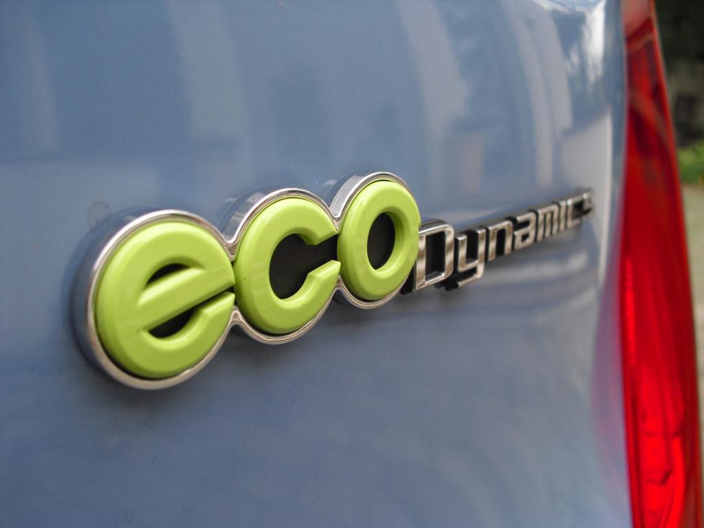 Kia Picanto: Ecodynamics-Schriftzug hinten.