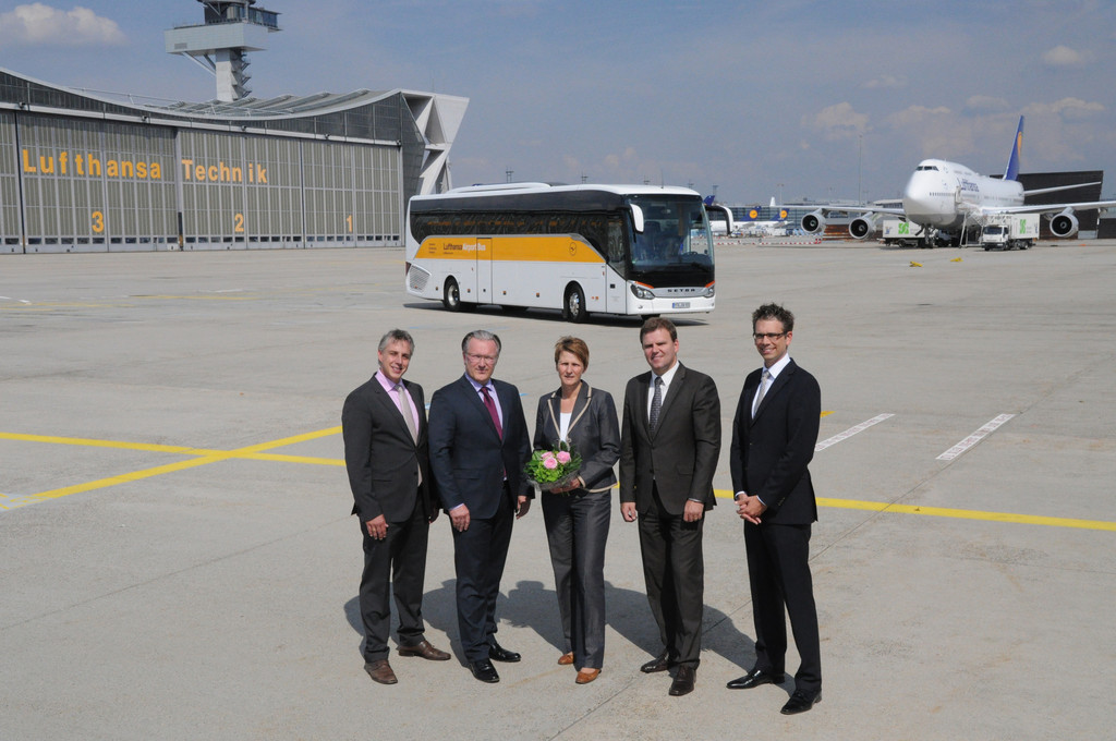 Lufthansa fährt mit Setra