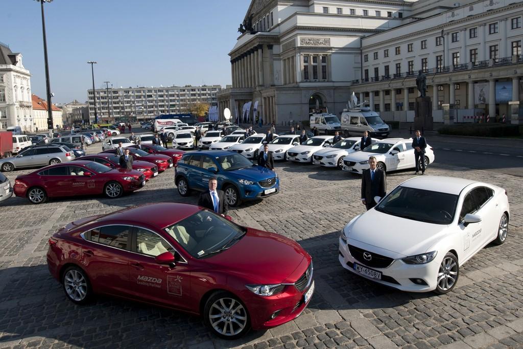 Mazda absolviert 36 000 Kilometer beim Warschauer Gipfeltreffen