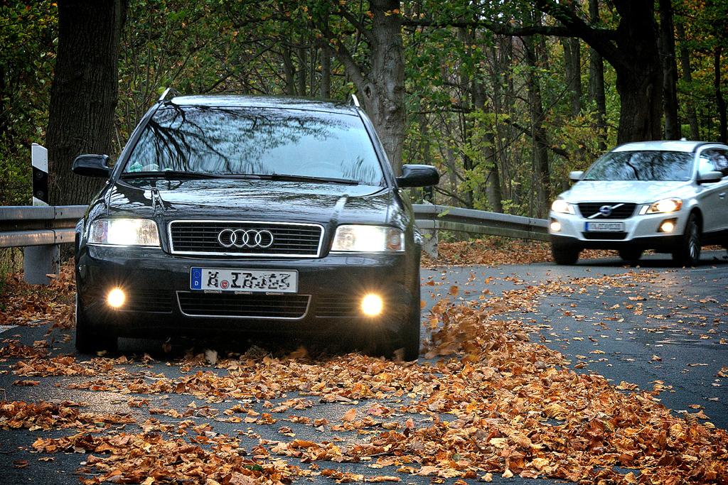 Schon im Herbst bei Laub auf den Straßen kann es rutschig werden.