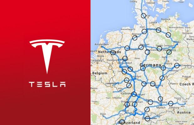 Tesla baut Schnell-Ladenetz in Deutschland auf